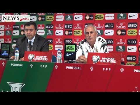 Bernard Challandes press conference after Portugalia - Armenia