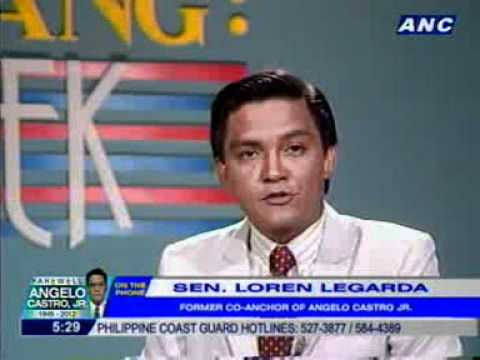 Loren Legarda: Angelo Castro Jr. was OC. He wanted everything right.