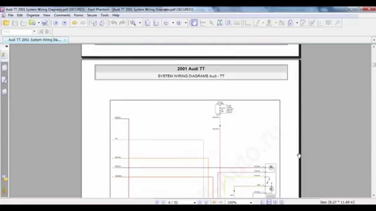 Audi       TT    2001 System    Wiring    Diagrams  YouTube