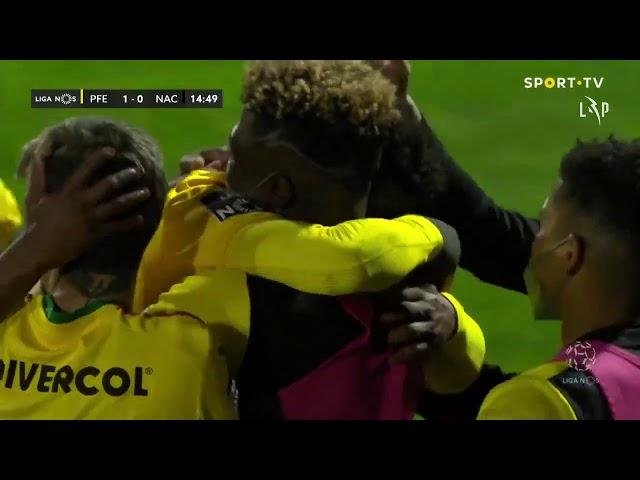 Goal | Golo Luther: Paços de Ferreira (1)-0 CD Nacional (Liga 20/21 #22)