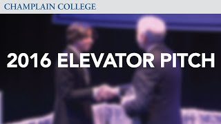 2016 Elevator Pitch Competition | Champlain College