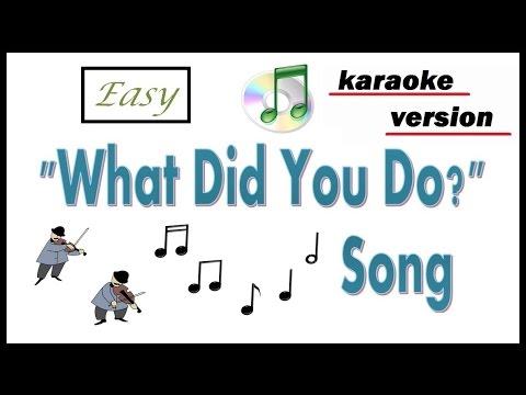 Past Simple Song -- Karaoke Version