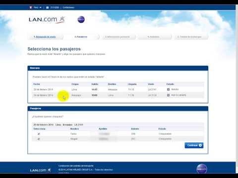 Download Youtube: Como hacer el checkin y elegir sus asientos en LAN