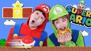 [강이 X 지니] 맛있는 햄버거도 먹고!! 재미있는 장난감까지? 일석이조 슈퍼마리오 해피밀 장난감 놀이