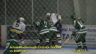 Acton Boxborough Varsity Girls Hockey vs Billerica 2/16/13
