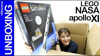 LEGO NASA Apollo Saturno V unboxing y preview -aniversario en la LUNA- 21309