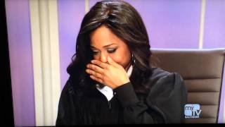 Judge Faith Trying Not to laugh during case