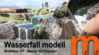 Wasserfall für Dioramen und Modelleisenbahn