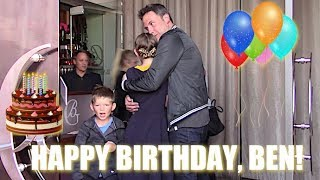 Ben Affleck Celebrates His 46th Birthday With His Children In Beverly Hills