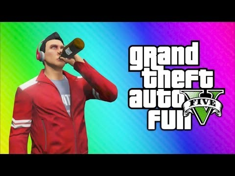 GTA 5 Online Funny Moments - Drinking Game, Liquor Hole, Glitchy Plane, Can You Please MOVE!