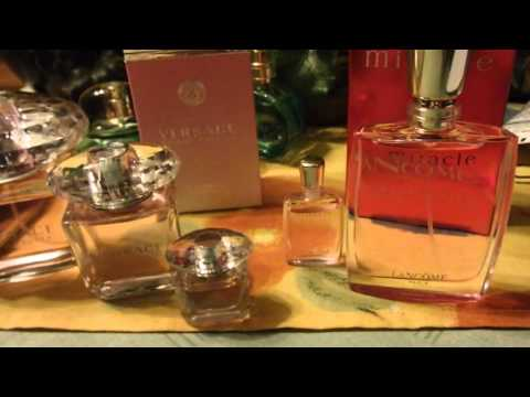 духи - versace bright crystal и lancome miracle