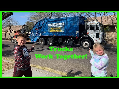 Garbage Trucks Team Up | Video For Kids