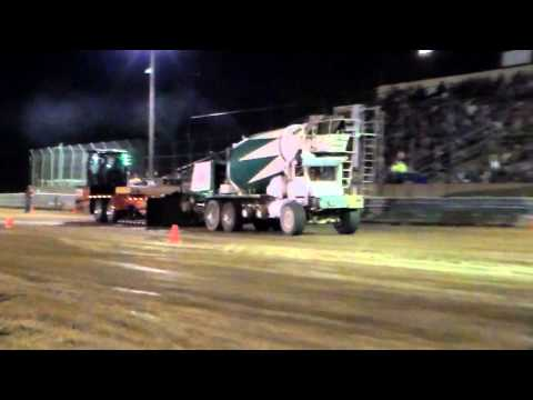 Cement Truck pulling in Lancaster, WI 8/17/2013
