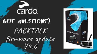 Cardo: what's new on PACKTALK firmware update V4.0