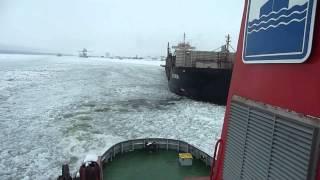 Icebreaker operations in Luleå Harbour