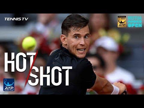 Hot Shot: Thiem 'Vaporises' Backhand Against Nadal Madrid 2018
