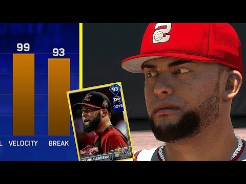 DIAMOND KELVIN HERRERA IS THROWING GAS!! MLB THE SHOW 17 BATTLE ROYALE