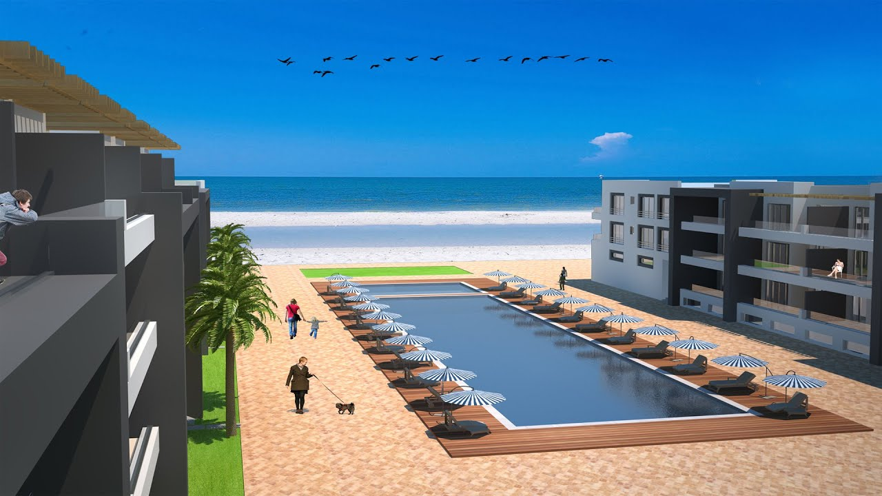 Appartement bord de mer agadir adan beach projet youtube for Immobilier appartement