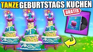 FREE Pickaxe 🍰🎂 Fortnite Dance before Birthday Cake | All places English German German