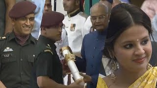 MS Dhoni Honoured With Padma Bhushan | Manastars