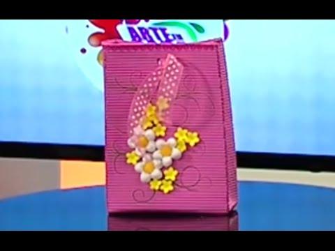 Como hacer una Bolsa de Regalo en foamy - Hogar Tv  por Juan Gonzalo Angel