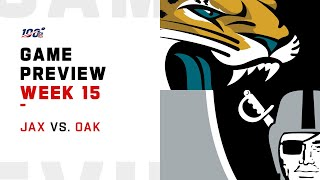 Jacksonville Jaguars vs Oakland Raiders Week 15 NFL Game Preview
