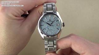 Grand Seiko Spring Drive Ice Blue Dial Limited Edition SBGA387 Watch Review 2019