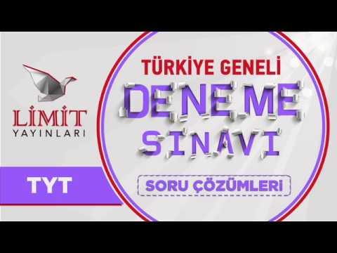 Türkiye Geneli Deneme Sınavı TYT Matematik Denemesi Çözümleri