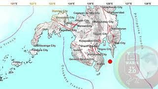 6.4 earthquake today - Mindanao, Philippines