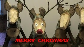 MAKING A CHRISTMAS REINDEER FROM LOGS If you make one of these make the legs and neck a light tap fit and perhaps add
