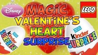 MAGIC Valentine's Heart KINDER SURPRISE Candy Haul with Lego Disney Princess Huevos Sorpresa Киндер Thumbnail