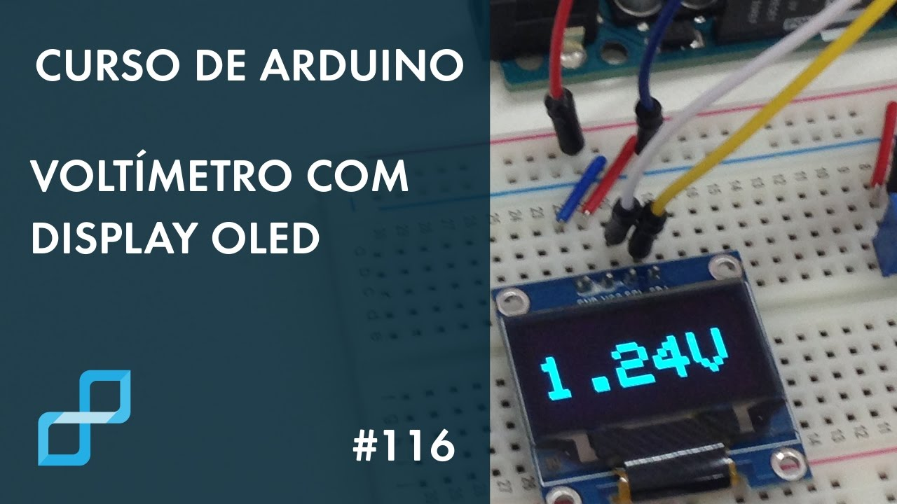 VoltÍmetro com display oled curso de arduino youtube