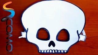 Hacer Careta de Calavera para Halloween