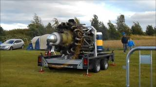 Merlin & Hercules Engine Runs at Croft Nostalgia 2017