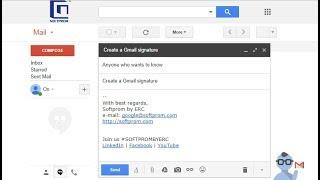 Подпись в Gmail – добавление изображения