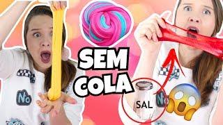 DIY SLIMES FEITOS COM 2 INGREDIENTE E SEM COLA!! TESTADOS! Daiane Portela thumbnail