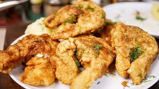 За этот рецепт мне дадут звезду Мишлен (но это не точно) Рыба в сухом кляре, цыганка готовит.