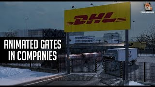 Animated Gates in Companies v 2.1 | Euro Truck Simulator 2 (ETS2 1.30 Mod)