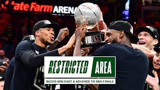 All-Access: Bucks Win East \u0026 Advance To NBA Finals | Exclusive Giannis \u0026 Khris Locker Room Footage