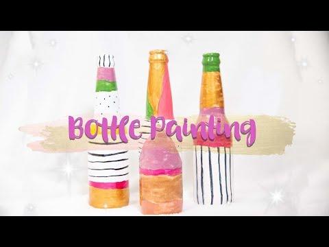 Bottle Painting using Nail Polish