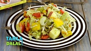 Apple And Lettuce Salad With Melon Dressing (fibre And Vitamin Rich) By Tarla Dalal