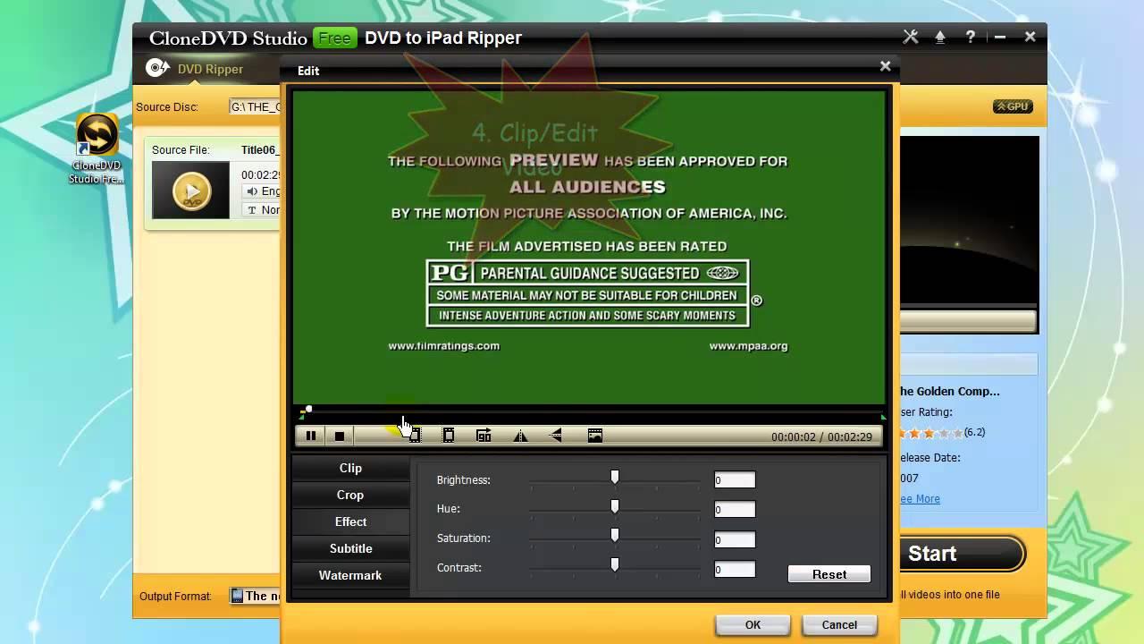 CloneDVD Studio Free DVD to iPad Ripper - Free Rip and