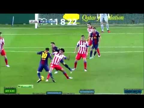 Radamel Falcao Crazy Goal Barcelona vs  Atletico Madrid 16.12.2012