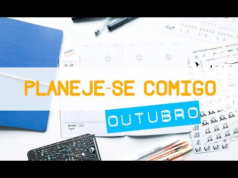 BULLET JOURNAL // Planeje-se Comigo OUTUBRO ( Plan With Me OCTOBER )