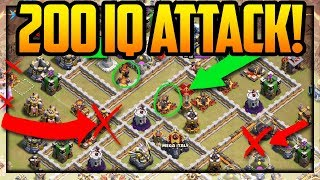 200 IQ ATTACKS! Clash of Clans Strategy for Attacking UP!