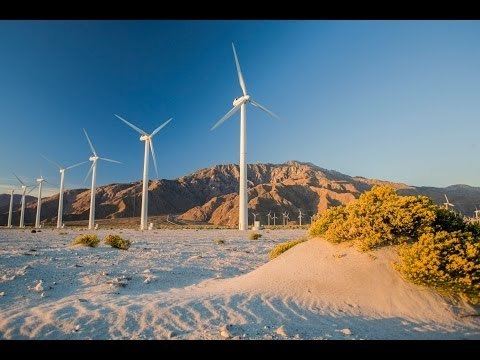 Palm Springs Wnd Farm Windmills Aerial Flyover DJI Phantom 2 Vision Plus