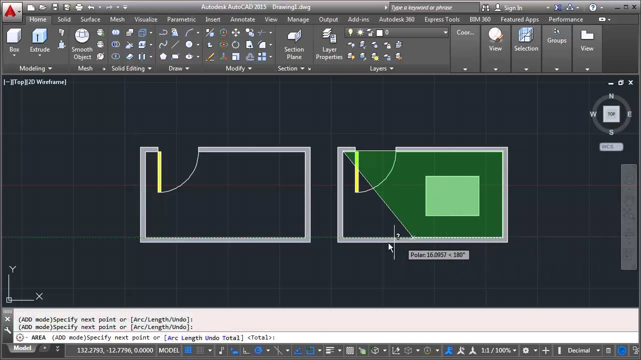 autocad calculate and measuring object area tips