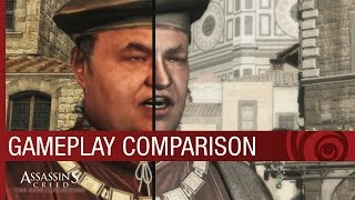 Assassin's Creed The Ezio Collection: Gameplay Comparison [US]