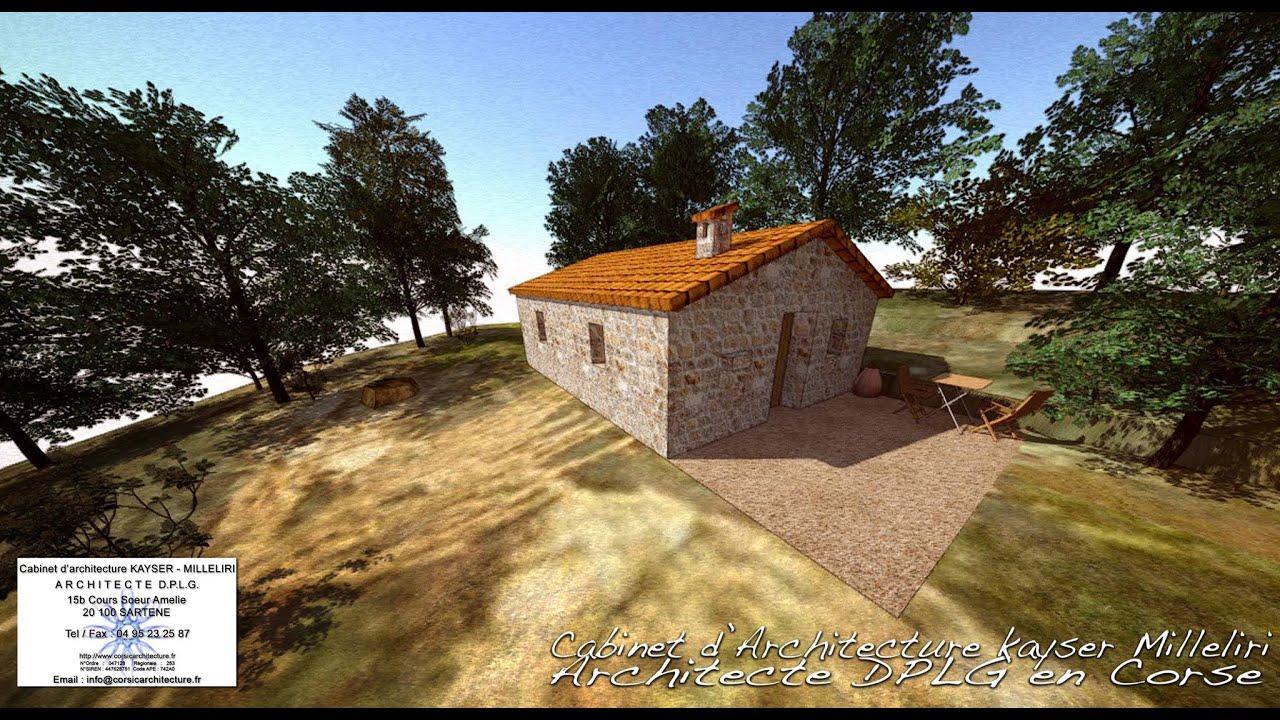 Constructeur Corse Du Sud projet de construction d'une bergerie neuve dans un style architectural  pastoral typique en corse