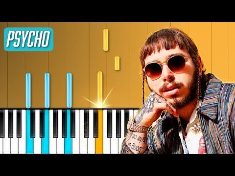 """Post Malone - """"Psycho"""" Piano Tutorial - Chords - How To Play - Cover"""
